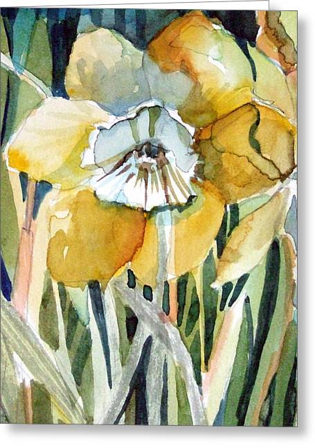 Golden Daffodil Greeting Card