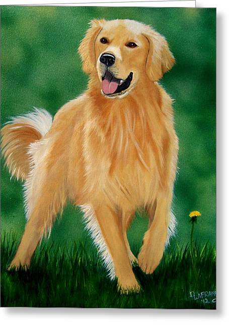 Golden Greeting Card by Debbie LaFrance