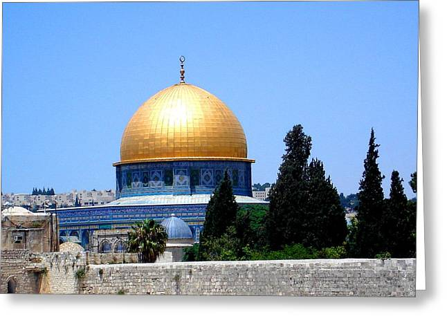 Golden Dome Greeting Card by Roberto Alamino