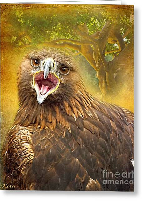 Golden Eagle Call Greeting Card