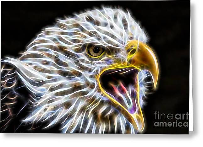 Golden Eagle Collection Greeting Card by Marvin Blaine