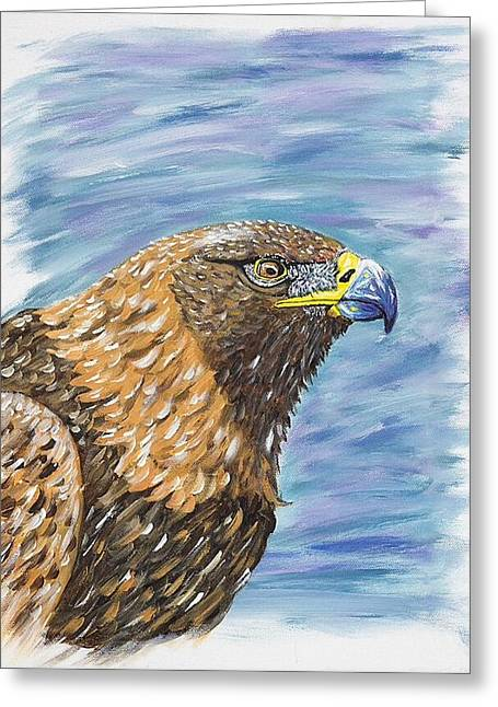 Golden Eagle Greeting Card by Scott Wilmot