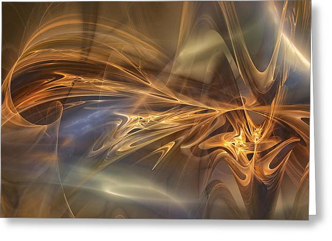 Golden Flame Greeting Card by Mary Almond