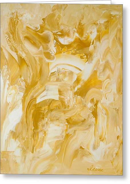 Greeting Card featuring the painting Golden Flow by Irene Hurdle