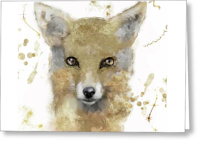 Golden Forest Fox Greeting Card