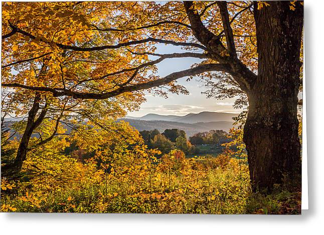 Vermont Framed In Gold Greeting Card