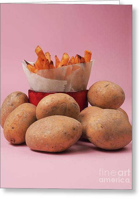 Golden French Fries Greeting Card by Andreas Berheide