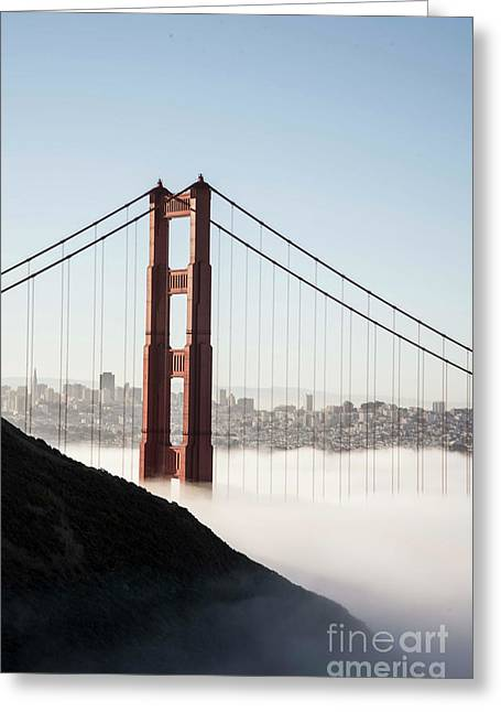 Greeting Card featuring the photograph Golden Gate And Marin Highlands by David Bearden