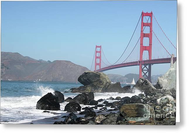 Golden Gate Beach Greeting Card