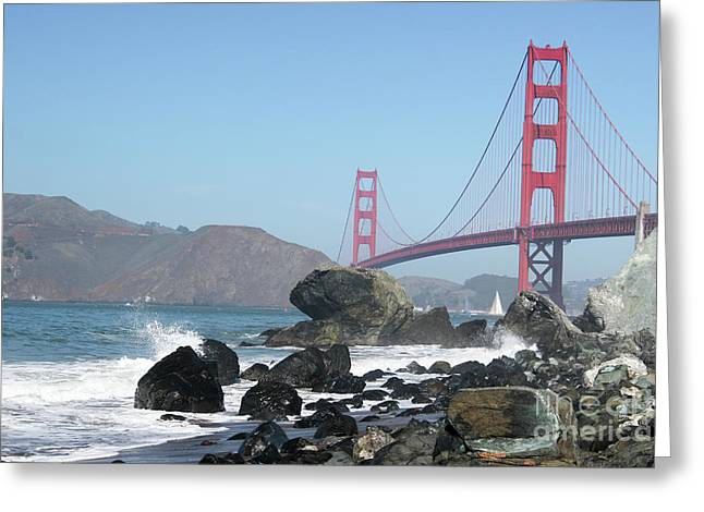 Golden Gate Beach Greeting Card