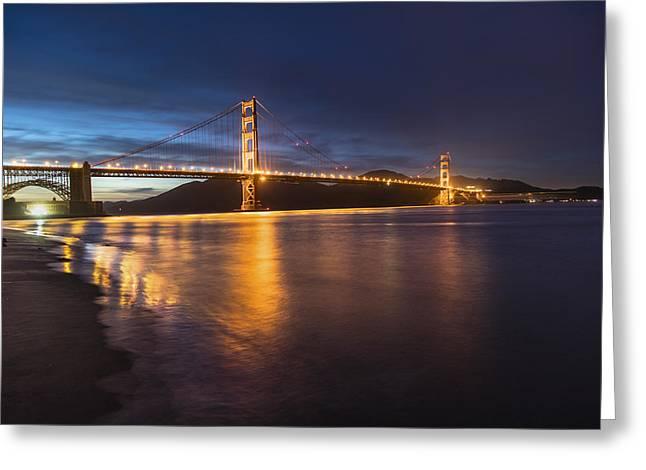 Golden Gate Blue Hour Greeting Card