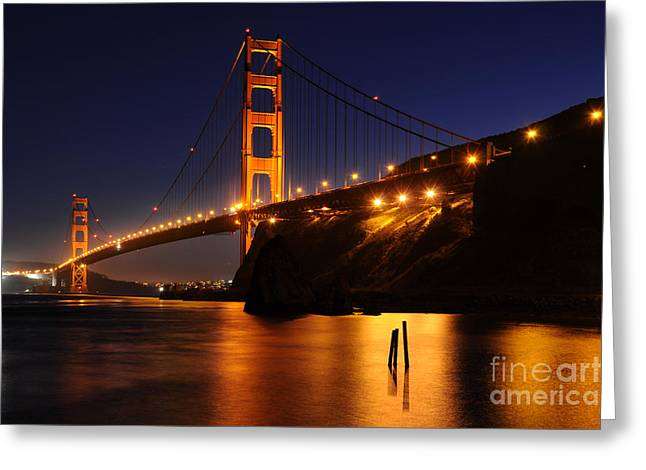 Greeting Card featuring the photograph Golden Gate Bridge 1 by Vivian Christopher