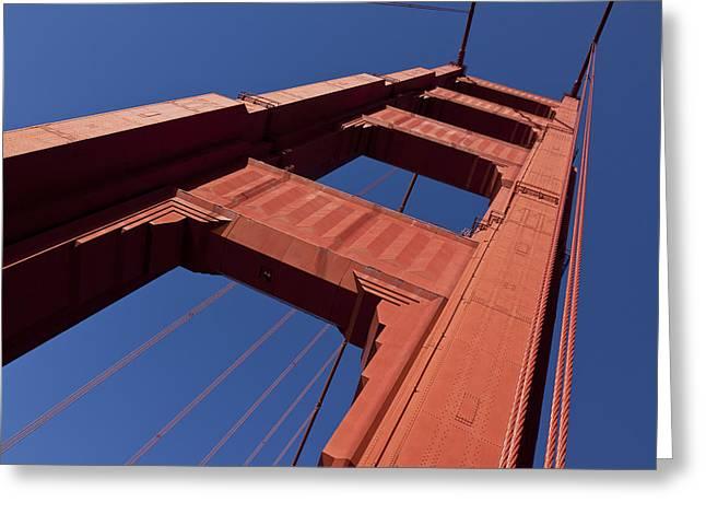 Golden Gate Bridge At An Angle Greeting Card