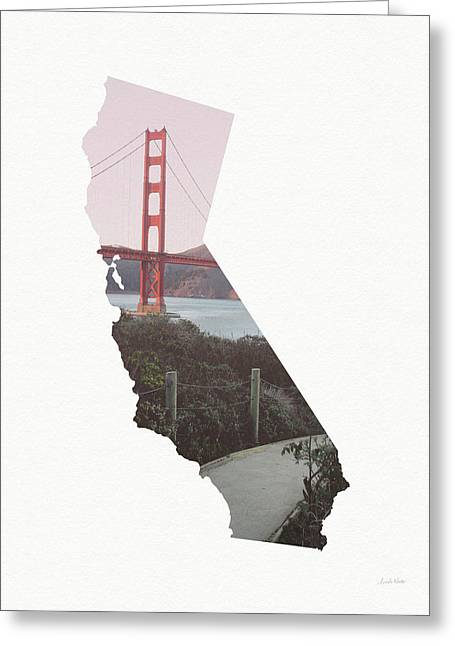 Greeting Card featuring the mixed media Golden Gate Bridge California- Art By Linda Woods by Linda Woods