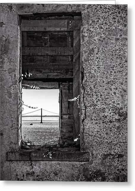 Golden Gate Bridge From Alcatraz Greeting Card