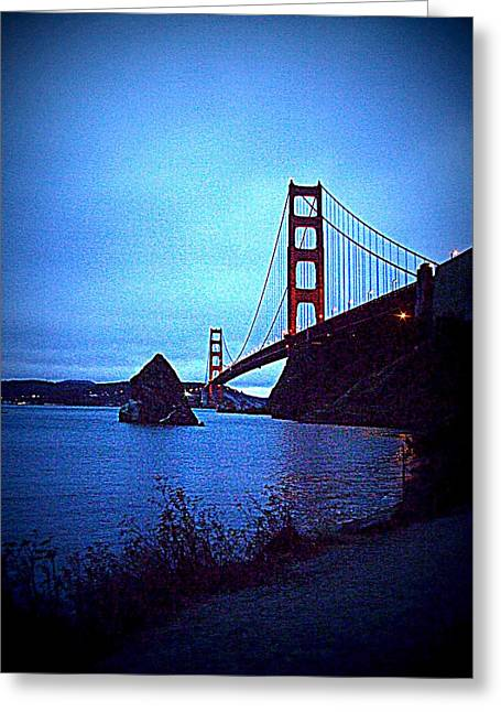 Golden Gate Bridge From Cavallo Point - Fort Baker - Sausalito, California - Below Vista Point Photo Greeting Card