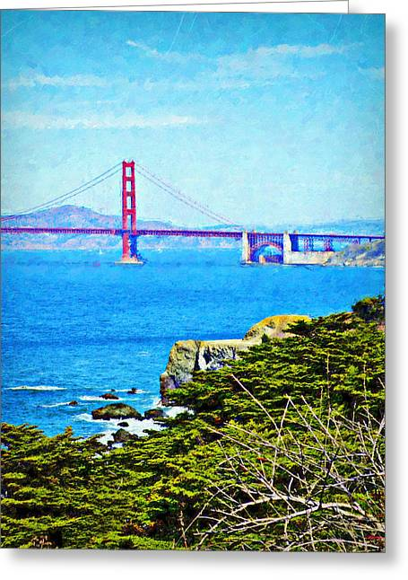 Golden Gate Bridge From The Coastal Trail Greeting Card