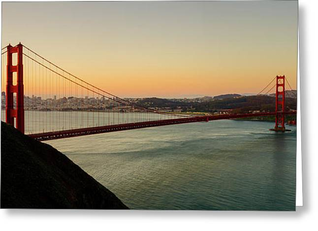 Golden Gate Bridge From The Headlands Greeting Card by Steve Gadomski