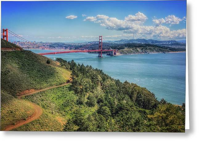 Golden Gate Bridge From The  Marin Headlands Greeting Card