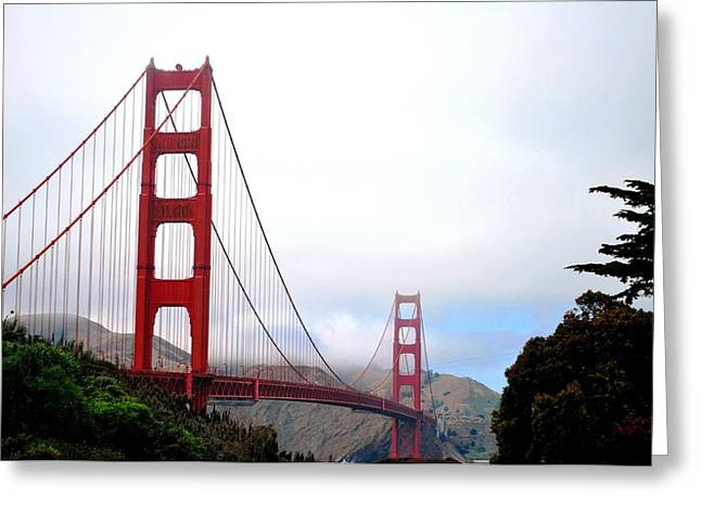 Golden Gate Bridge Full View Greeting Card by Matt Harang