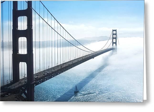 Golden Gate Bridge Greeting Card by Happy Home Artistry