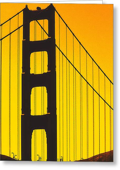 Golden Gate Bridge Greeting Card by Jim Dohms