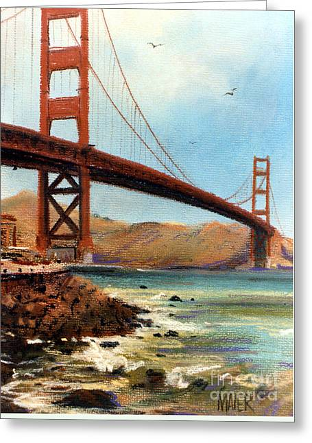 Golden Gate Bridge Looking North Greeting Card by Donald Maier