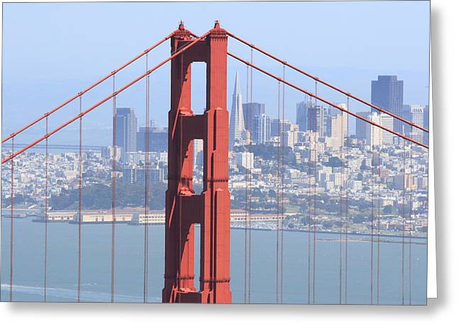 Golden Gate Bridge Greeting Card by Lou Ford