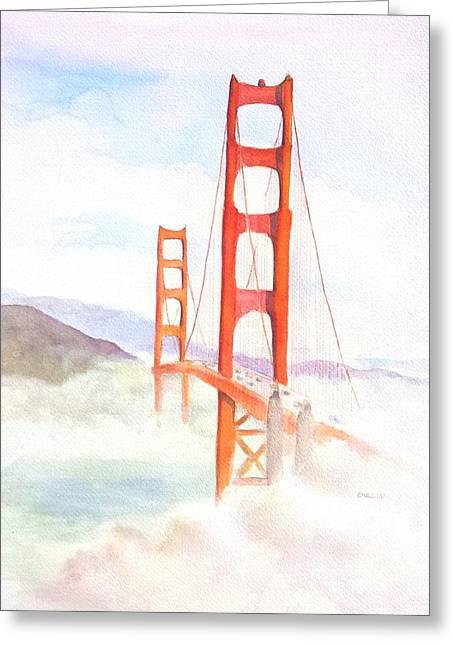 Golden Gate Bridge San Francisco Coastal Fog Greeting Card