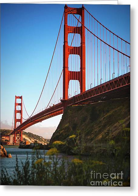 Golden Gate Bridge Sausalito Greeting Card by Doug Sturgess