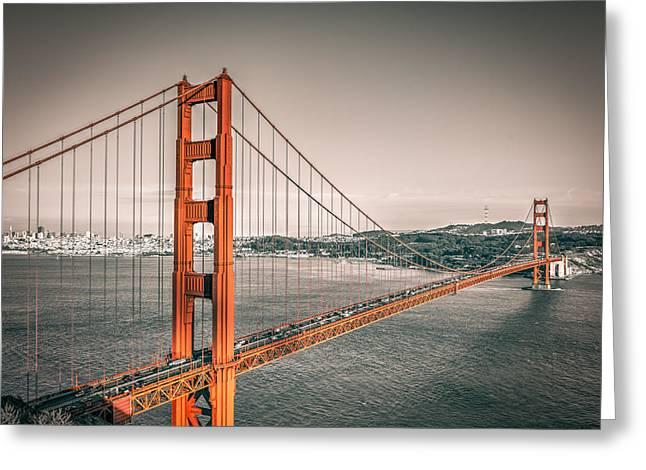 Golden Gate Bridge Selective Color Greeting Card