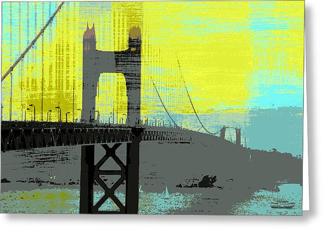 Golden Gate Bridge, Sf V1 Greeting Card by Brandi Fitzgerald
