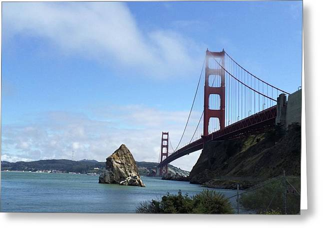 Golden Gate Bridge Greeting Card by Sumoflam Photography