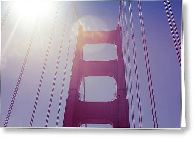 Golden Gate Bridge The Iconic Landmark Of San Francisco Greeting Card