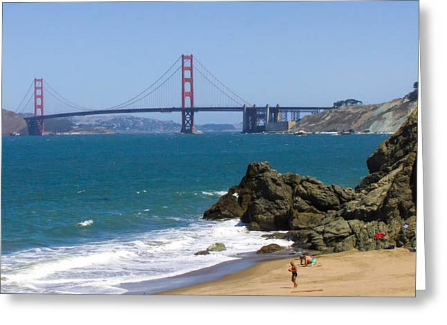 Golden Gate Bridge View Greeting Card by Richard Balison