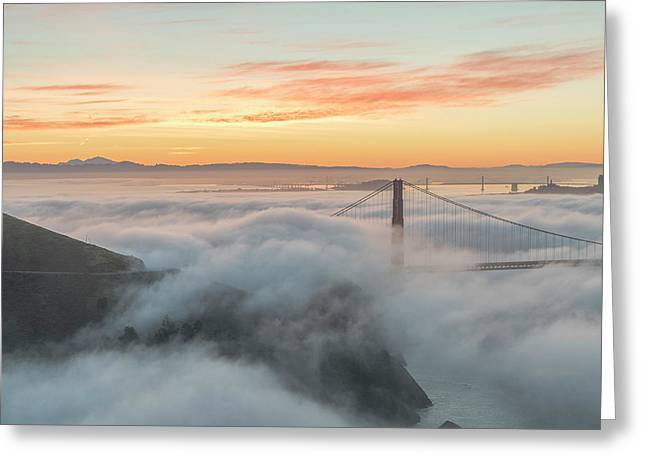 Golden Gate Greeting Card by Exquisite Oregon