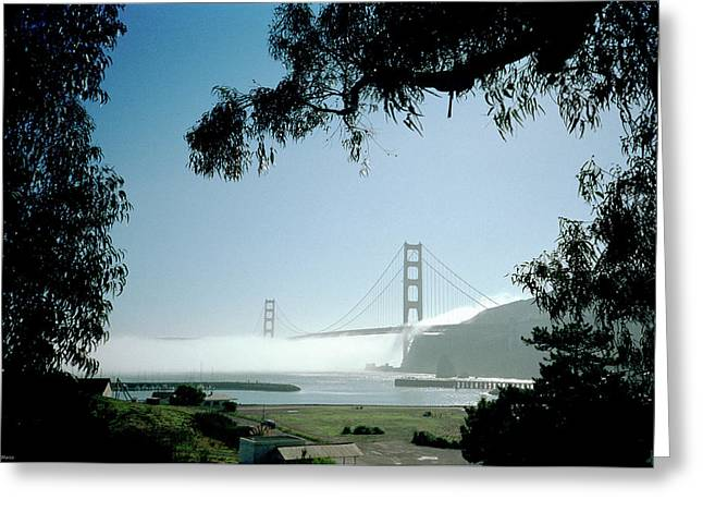Golden Gate Fog  Greeting Card
