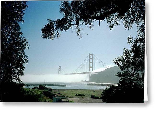 Golden Gate Fog  Greeting Card
