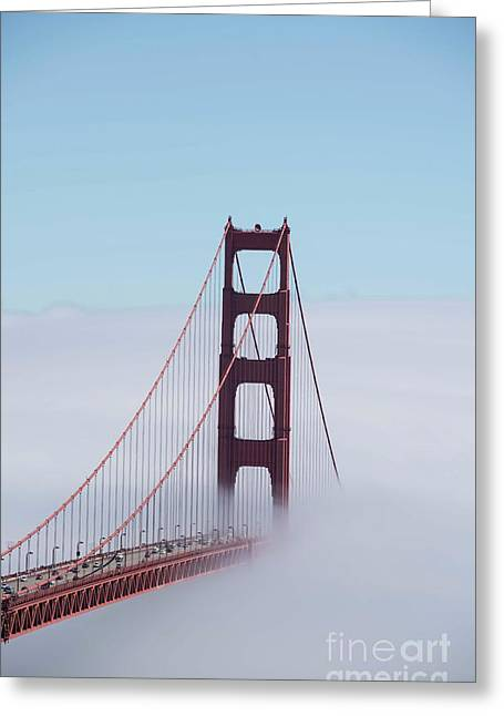 Greeting Card featuring the photograph Golden Gate Fogged - 3 by David Bearden