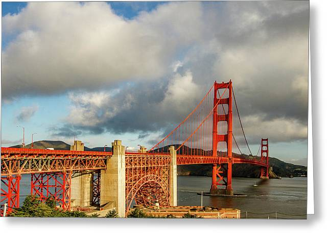 Golden Gate From Above Ft. Point Greeting Card