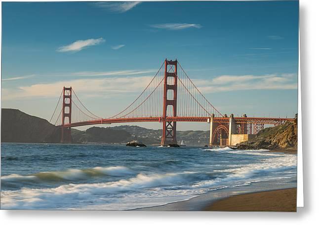 Golden Gate From Baker Beach Greeting Card by Steve Gadomski