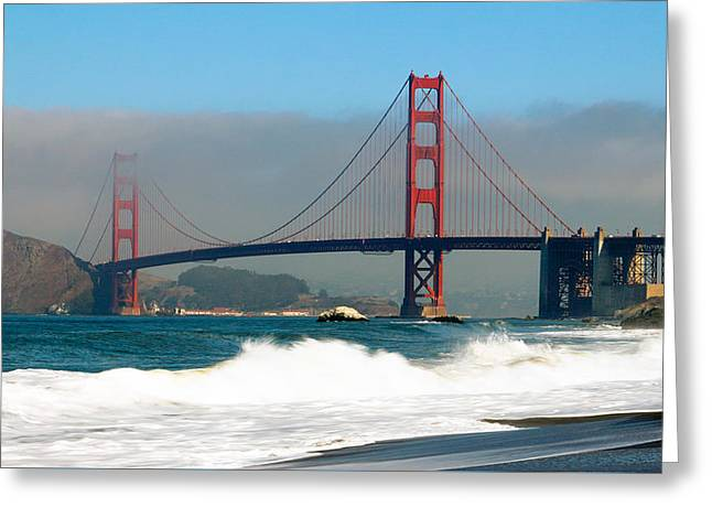 Golden Gate From Baker's Beach Greeting Card by Nicholas Blackwell