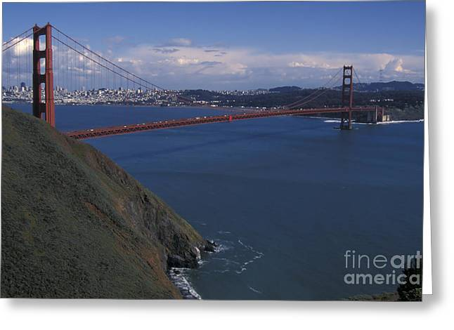 Golden Gate From Marin Headlands Greeting Card by Stan and Anne Foster