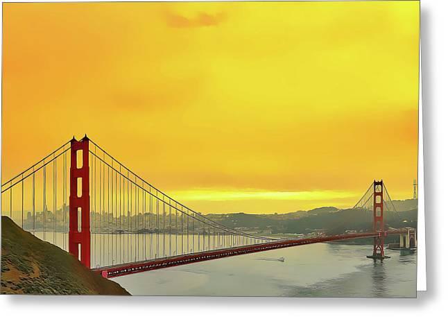 Golden Gate Greeting Card
