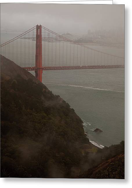 Golden Gate On A Grey Day Greeting Card by Patrick  Flynn