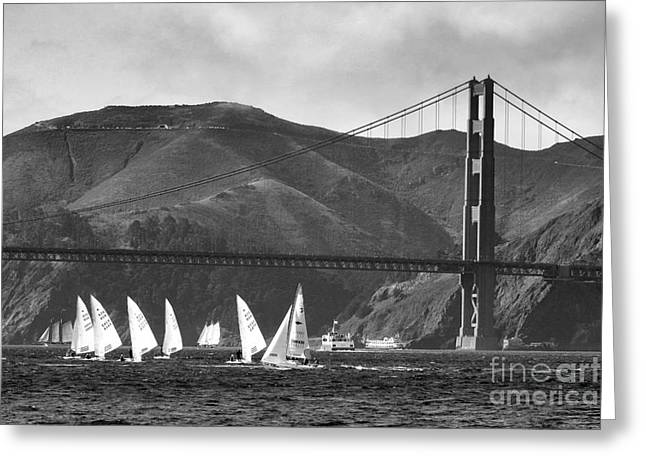 Golden Gate Seascape Greeting Card