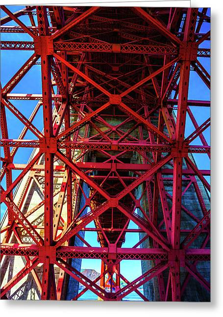 Golden Gate Structure Greeting Card by Garry Gay