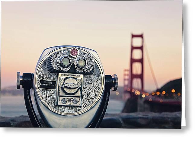 Golden Gate Sunset - San Francisco California Photography Greeting Card