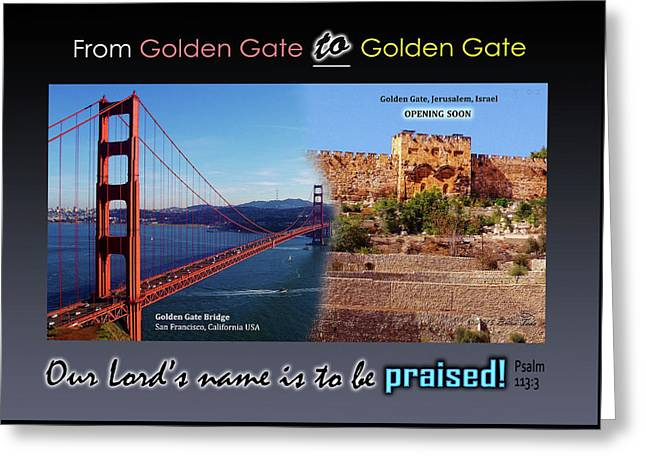 Golden Gate To Golden Gate Greeting Card by Brian Tada