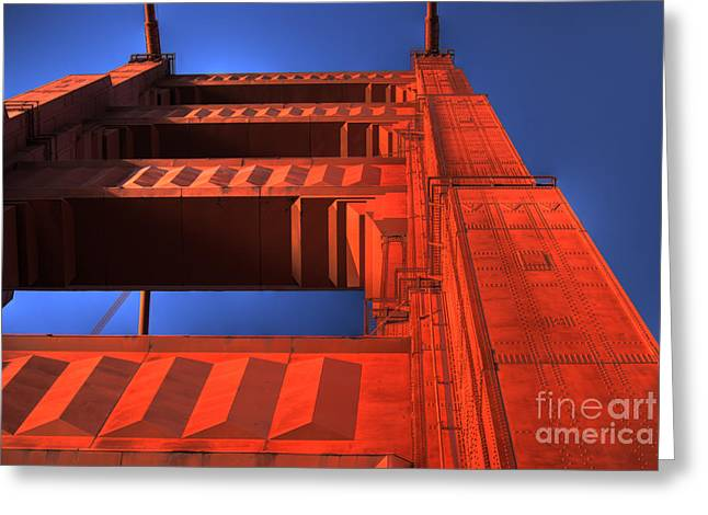 Golden Gate Tower Greeting Card by Jim and Emily Bush